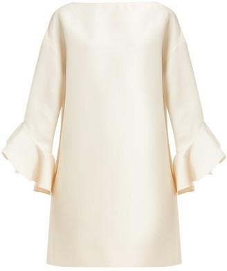 Valentino Fluted Wool-blend Crepe Mini Dress - Womens - Ivory