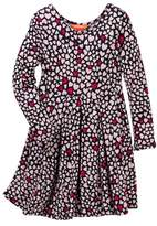 Joe Fresh Heart Printed Dress (Toddler & Little Girls)