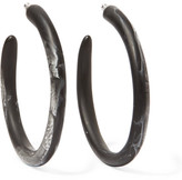 Dinosaur Designs Resin Hoop Earrings - Black