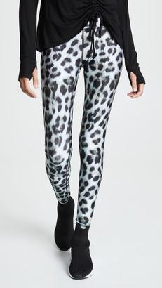 Terez Snow Leopard Tall Band Leggings