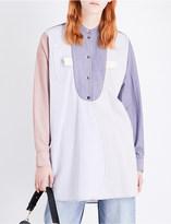 J.W.Anderson Patchwork cotton bib shirt