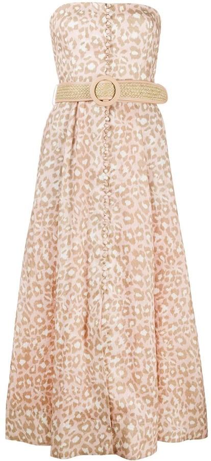 Zimmermann Carnaby leopard-print linen dress
