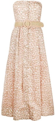 Zimmermann Carnaby leopard-print linen dress