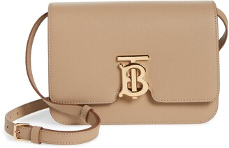 Burberry Small TB Monogram Grainy Leather Shoulder Bag