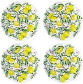 Q Squared Set of 4 Limonata Melamine Salad Plates - Yellow