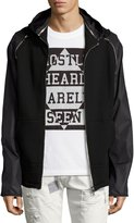 Mostly Heard Rarely Seen Zip-Sleeve Hoodie, Black
