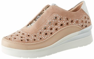 Stonefly Women's Cream 22 Nappa/Goat Suede Trainers