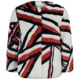 Tommy Hilfiger Tommy HilfigerBranded Stripe Faux Fur Jacket