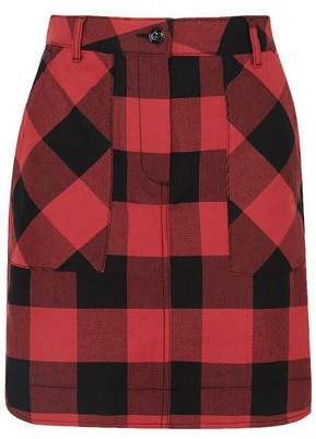 Tomas Maier Gingham Cotton-twill Mini Skirt