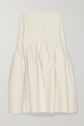 3.1 Phillip Lim Gathered Cotton-blend Poplin Midi Skirt - Off-white