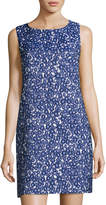 Cynthia Steffe Jade Sleeveless Floral Jacquard Shift Dress, Blue