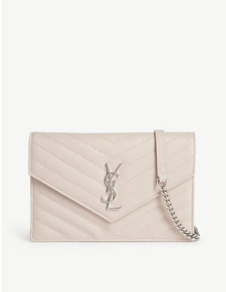Saint Laurent Monogram quilted leather wallet-on-chain