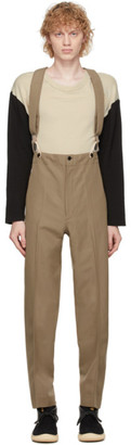 Visvim Beige Wool Anton Suspender Trousers