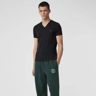 Burberry Cotton Jersey V-neck T-shirt