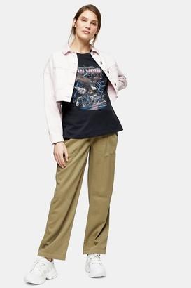Topshop Womens **Maternity Khaki Slouch Trousers - Khaki