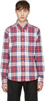 Noah Red Plaid Pocketed Shirt