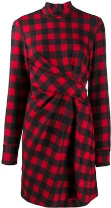 MSGM Plaid Wrap Dress