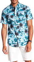 Burnside Short Sleeve Palm Tree Print Woven Regular Fit Shirt
