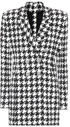 Balmain Houndstooth blazer minidress