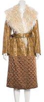 Dries Van Noten Brocade Faux Fur Coat