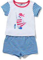 David Jones Baby Boys Sleep Set - Nautical Striped Sleeves
