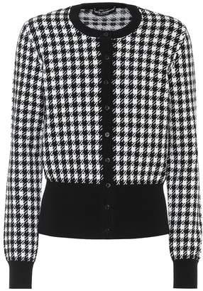 Dolce & Gabbana Houndstooth cashmere cardigan