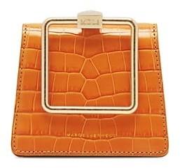 Marge Sherwood Mini Croc-Embossed Leather Bracelet Bag