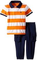 Ralph Lauren Mesh Atlantic Terry Stripe Pants Set (Infant)
