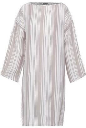 Jil Sander Striped Woven Silk Dress
