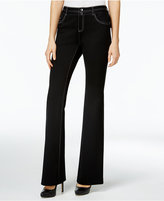 INC International Concepts Deep Black Flared Pants, Only at Macy's