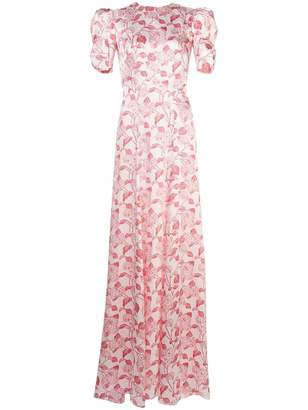 The Vampire's Wife Liberty Print Puff Sleeve Gown