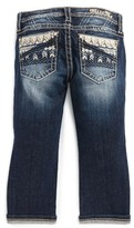 Miss Me Girl's Chevron Embellished Bootcut Jeans