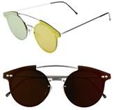 Spitfire Women's Trip Hop 55Mm Sunglasses - Silver/ Red Mirror