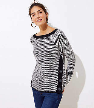 LOFT Side Button Sweater