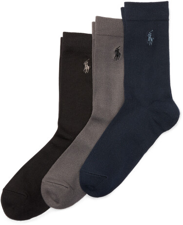 Thumbnail for your product : Ralph Lauren Crew Sock 3-Pack