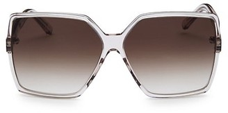 Saint Laurent New Wave 232 Betty 63MM Square Acetate Sunglasses