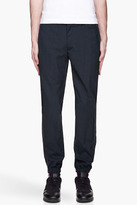 Yigal Azrouel Navy and grey Lightweight Suiting trousers