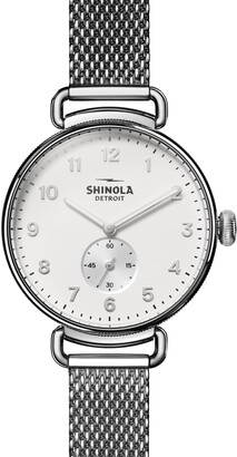 Shinola Women's Canfield Sub Second Silver Bracelet Watch, 38mm