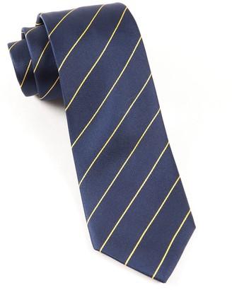 Tie Bar Pencil Pinstripe Navy Tie