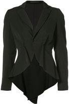 Yohji Yamamoto Short Tuck blazer - women - Wool - 1