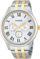 Pulsar Traditional Mens Two-Tone Stainless Steel Watch PP6171