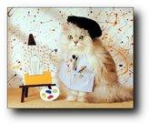 Cute Cat Kitten Painting Animal Kids Room Wall Decor Art Print Poster (16x20)