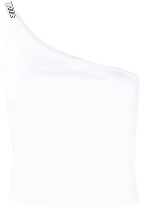 Aries Cropped One-Shoulder Top