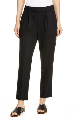 Vince Wool Blend Flannel Pull-On Pants