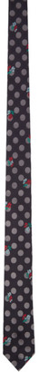 Paul Smith Black Silk Graphic Tie