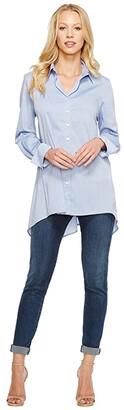 Krazy Larry Button Down Tunic (Chambray) Women's Blouse