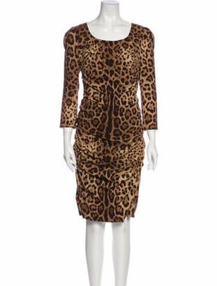 Dolce & Gabbana Silk Midi Length Dress w/ Tags