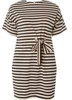 Dorothy Perkins Womens Petite Pink Striped Shift Dress
