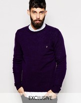 Farah Jumper In Lambswool Exclusive - Green