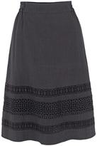 Fat Face Monica Lace Skirt, Phantom